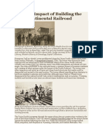 Cultural Impact of Building the Transcontinental Railroad