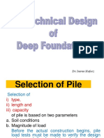 Geo Tech Design of Pile