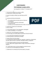 CUESTIONARIO PESTE PORCINA CLASICA (PPC)