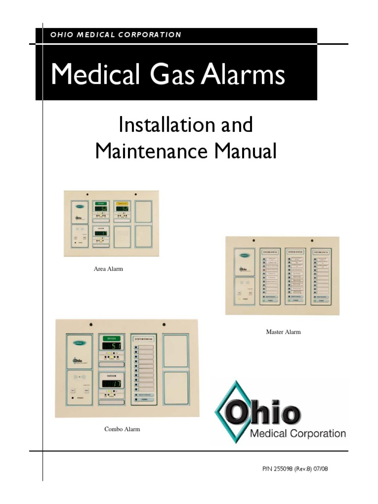 255098 medical gas alarms manual rev8 switch relayOhio Medical Air Compressor Wiring Diagram #9