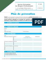 Formulaire Exemple Plan Prevention