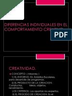Diferencias Individuales en El Comportamiento Creativo