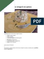 Receta de Arroz Integral Con Quinoa