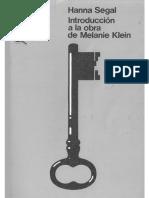 Segal, Hanna-Introduccion a La Obra de Melanie Klein