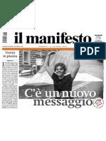 noi in prima pagina su Il manifesto - Domenica 31 ottobre 2004 - sulla manifestazione contro la guerra Iraq del 30 ottobre 2010