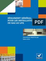 Règles Générales Pour Les Installations de Gaz Au LPG