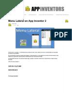 Menú Lateral en App Inventor 2