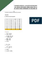 Recta de Regresión y Coeficiente de Correlacion