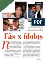 Reportagem Fãs e Ídolos  - Revista ZZZ