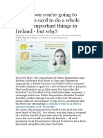Your Data Privacy Identidy is Not Safe From EU or US or Government, Pretty Soon You'Re Going to Need This Card to Do a Whole Load of Important Things in Ireland - But Why