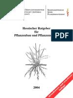 Pflanzenbau Hessen Ratgeber Handbuch 2004