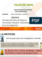 Sesion 6 La Hipotesis