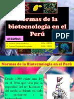 Normas de Biotecnología en El Perú Seminario 9