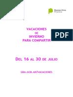 VACACIONES DE INVIERNO PARA COMPARTIR EN EL TEATRO COMEDIA DE LA PLATA