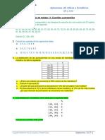 Hoja de Trabajo 11 - Cuartles y Percentiles