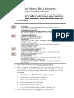 Ejercicio Práctico TDC y Secciones