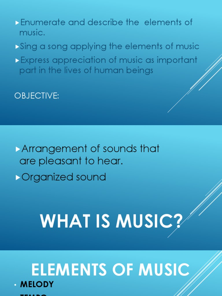 importance of elements of music