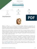 Biografia de Anaxímenes