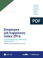 Job Happiness Report 2016 SEEK Asia