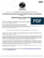 Advertising Script Family (CC by-NC)License[1]