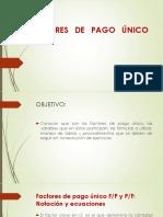 1 Factores de Pago Único