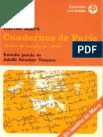 Carlos Marx Cuadernos de Paris