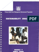 Module 9 Sustainability Analysis (User's Guide)