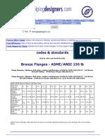 Bronze Flanges - ASMEANSI 150 Lb