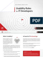 Delivering Great Apps - 11 Usability Rules for IT Developers