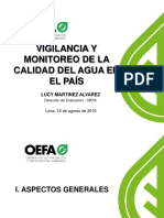 Vigilancia y Monitoreo de La Calidad Del Agua en El País