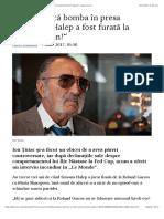 Ţiriac aruncă bomba în presa franceză