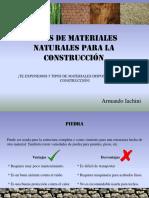 Tipos de Materiales Naturales Para Construcción
