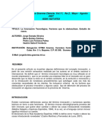 Articulo Innovacion Tecnologica