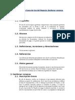 Especificacion de Casos de Uso de Negocio de Gestion de Compras