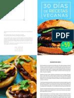 30 Días de Recetas Veganas Cocina Vegano