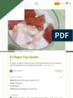 Cookpad Com Id Resep 2282917 Es Doger Top Simple