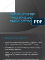 Psychology in the Philippines and PsycHology Today