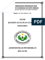 Analisa Keuangan Pendidikan Dan SDM Kota Medan
