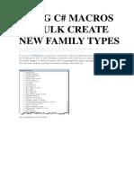Using c# Macros to Bulk Create New Family Types
