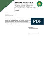 Surat Pernyataan Peminjaman Alat Laboratorium