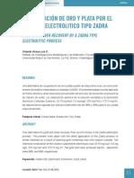 Grupo 2 Recuperación de Oro y Plata Por El Proceso Electrolítico