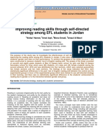 Improving Reading Skills Through Self-directed Strategy Among EFL Students in Jordan