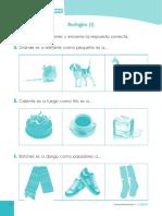 Fichas de RV - Analogías - Primaria
