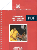 Module 6 Assessing the Quality of Service (User's Guide)