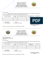 Request Form for Form 137
