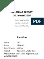 MR 30 Januari 2016 Yudha