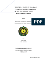 123dok Karakteristik Dan Motivasi Pemakaian Piranti Ortodonti Cekat Pada Siswa Smp Dan Sma Bodhicitta Dan