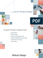 Issues for Product Design