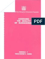 Module 7 Assessing the Quality of Management (Facilitator's Guide)