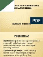 Epidemiologi Dan Surveilence Kesehatan Kerja